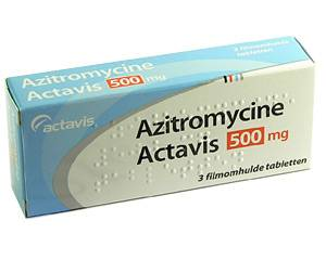 After ingestion azithromycin