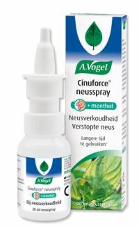 Griep - Verkoudheid: Cinuforce Mentholspray