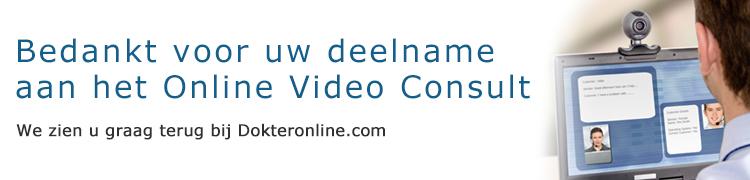Bedankt voor uw Online Video Consult